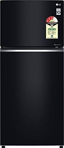 LG 547L 2 Star Inverter Linear Frost-Free Double-Door Refrigerator (GN-C702SGGU, Black Glass, Door Cooling+)