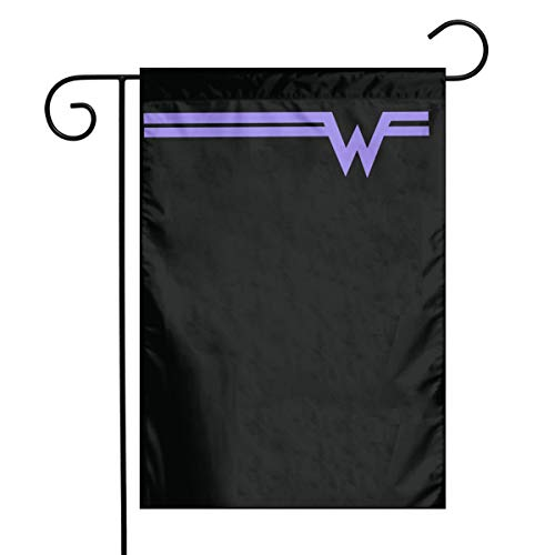 Y3KI8 DeepHeather Weezer Rock Band Logo Beautiful and Durable Garden Flag for The Flagpole of Each Household12 x18 White