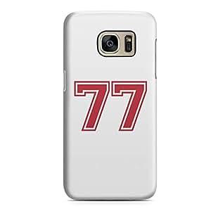 Samsung S7 Case Number 77 Sports Player Team Sleek Design Durable Samsung S7 Cover Wrap Around