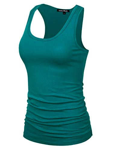 Design by Olivia Women's Casual Basic Sleeveless Racerback Tank Top Jade 2XL