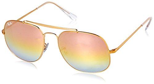Ray-Ban Men's 0rb35619001i157the General Non-Polarized Iridium Square Sunglasses, Light Bronze, 57 - 57 Iridium