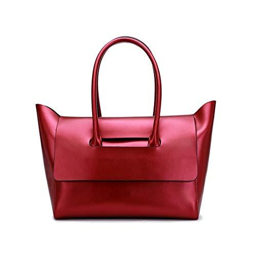 Olprkgdg Pour Cuir Bandoulière Red À color Femme Véritable Sac Wine En Red nBn4r