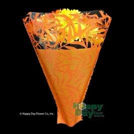 Flower Sleeve Printed Palm Leaves 4.75 x 20 x 17 BOPP Green Pack of 100 Sleeves