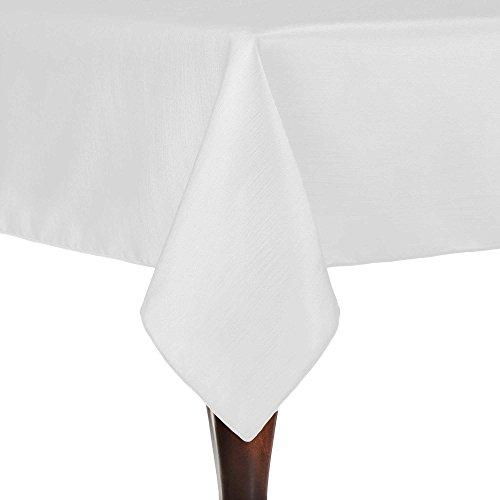 Ultimate Textile Reversible Shantung Satin - Majestic 60 x 90-Inch Rectangular Tablecloth -