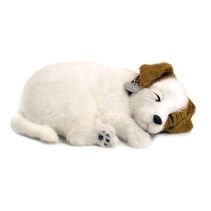 Perfect Petzzz 65409 – Plüsch Interactive – Hunde – Jack Russel – Tier, die atmet für wahr – 25 cm