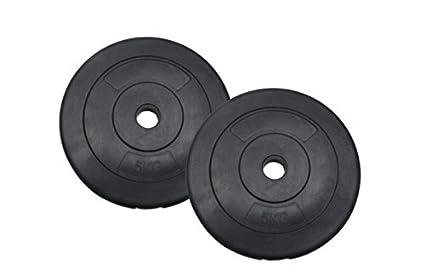 Hugel Discos de pesas de vinilo para mancuernas y barras para pesas pares 1,5