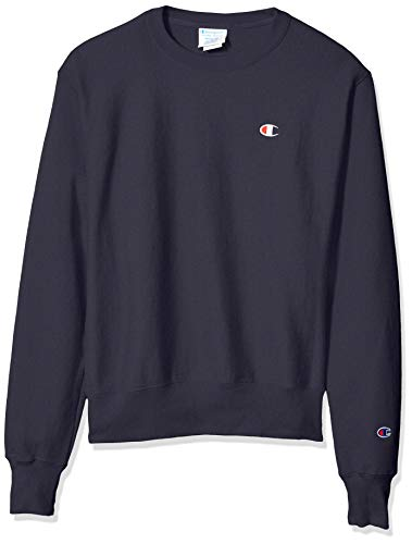 Champion LIFE Men's Reverse Weave Sweatshirt, Navy, X-Large (Sweatshirt Crewneck Reverse Weave)