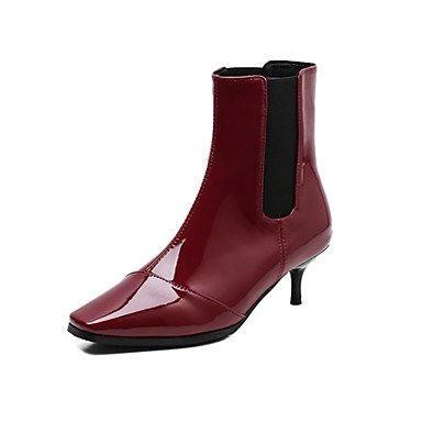 RTRY Women'S Shoes Pu Fall Winter Comfort Novelty Fashion Boots Boots Wedge Heel Pointed Toe Booties/Ankle Boots Gore For Office &Amp; Career US5.5 / EU36 / UK3.5 / CN35 8i26JzZMO