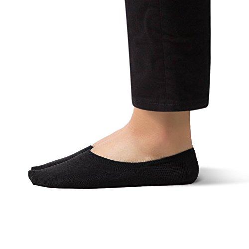 SHEEC SoleHugger Active 1.0 - No Show Socks for Women - Guaranteed Non-Slip - Black Xlarge 4 pairs