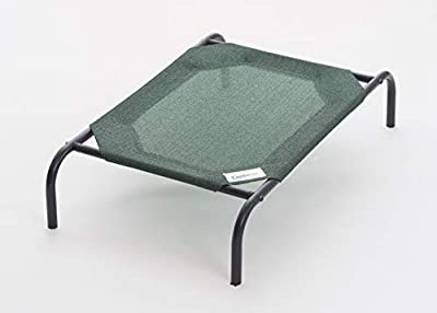Gale Pacific Coolaroo Pet Bed, Elevated Pet Bed, Raised, Cooling Washable, Indoor or Outdoor Dog Bed or Cat Bed, Large (L) (LG), Brunswick Green