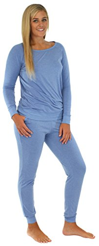 Sleepyheads Women's Sleepwear Knit Jogger Pant PJ Set Blue SH1760-4003-SML