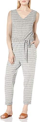 Daily Ritual Women's Standard Cozy Knit Sleeveless Tie-Waist Jump