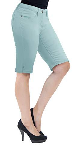 - Super Comfy Stretch Bermuda Shorts B43308X Powder Blu 24