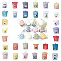 Yankee Candle Spring and Summer Votive Samplers Assortment of 12 in Yankee Candle Storage Container Gift Box with Bonus…