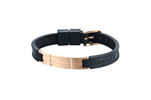 Zenturio Limited Quad Rosé Titanium Edition 10mm exclusive magnet/ion / health bracelet – TÜV Rheinland Germany certified – For your health and wellbeing - Without Etui by Zenturio