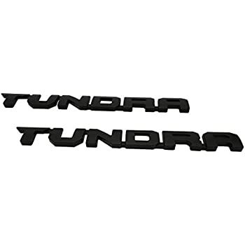 Tundra Door Emblem Sticker Badges For 2013-2018 SR51974 TRD PRO 2 PCS Matt Black