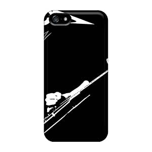 Iphone 5/5s LcS6905JLDy Customized Realistic Metallica Image Protector Hard Phone Case -KellyLast