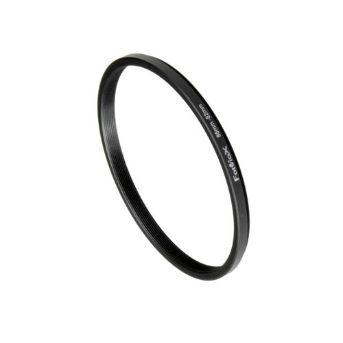 (Fotodiox Metal Step Down Ring Filter Adapter, Anodized Black Aluminum 86mm-82mm, 86-82 mm)