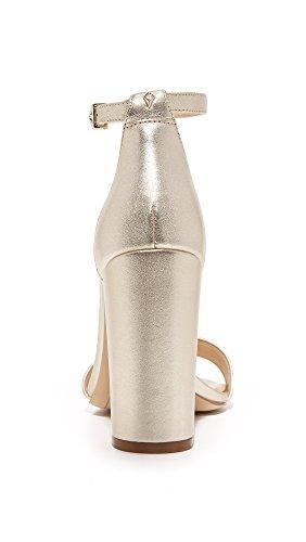 para Metallic Dorado Sam Yaro Edelman Jute Cuña Sandalias Mujer Leather con 16zOqSwX