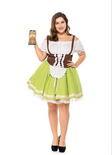 Dirndl Dress Plus Size - German Gretchen Bavarian Beer Girl Oktoberfest Costume for Women M-3XL]()