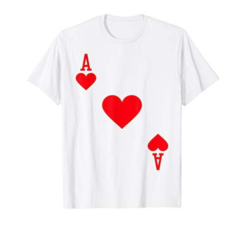 Ace of Hearts Costume T-Shirt Halloween Deck of Cards