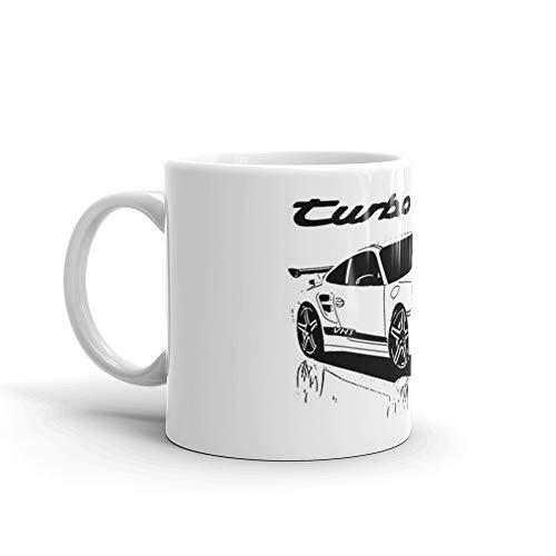 turbo - porsche 911 11 Oz White Ceramic