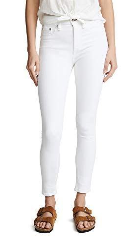 - Rag & Bone/JEAN Women's High Rise Ankle Skinny Jeans, White, 26