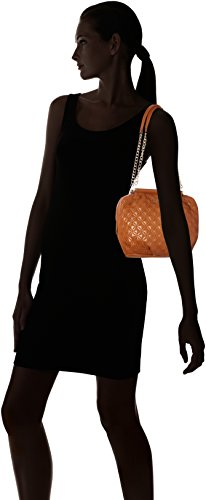 Moschino cm Hide Shoulder 10x23x30 Bag H Quilted Borsa Brown B Nappa T x Cuoio Womens Pu Love AqUd7nvU