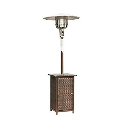 HOMCOM Calentador Gas Butano Patio Estufa Acero Inoxidable Terraza Exterior Bar 8 KW: Amazon.es: Hogar