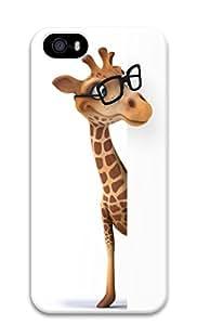 Cute Giraffe Wearing Glasses 3D PC Case for iPhone 5S iPhone 5
