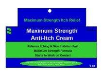 Strength Anti Itch Medication Cream (Maximum Strength Anti-Itch Medication Cream by Generic Benadryl - 1 Oz)