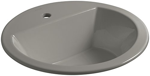 KOHLER K-2714-1-K4 Bryant Round Drop-In Bathroom Sink with Single Faucet Hole, Cashmere