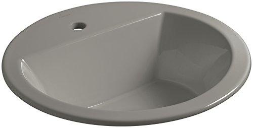 KOHLER K-2714-1-K4 Bryant Round Drop-In Bathroom Sink with Single Faucet Hole, (Round Drop In Bathroom Sink)