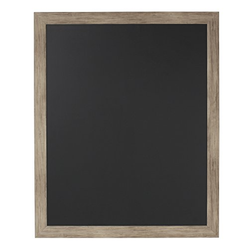 DesignOvation Beatrice Framed Magnetic Chalkboard, 27x33, Rustic Brown (Board Magnetic Wood)