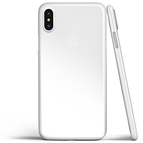 Solid White Case - iPhone X Case, Thinnest Cover Premium Ultra Thin Light Slim Minimal Anti-Scratch Protective - for Apple iPhone X | totallee (Jet White)