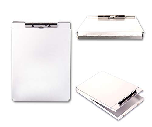 Summit Tools Dual Storage Aluminum Clipboard - 8.5 in. x 12 in. Letter Size Document Holder with Self Locking Latch, Form Clip, 2 Storage Compartment [2-Pack] by Summit Tools (Image #3)