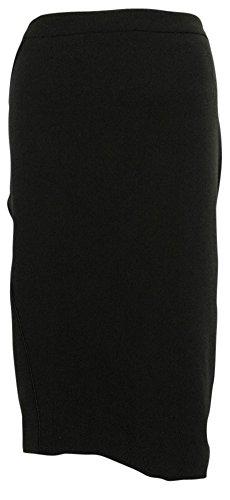 Satin Trim Skirt (Jones New York Women's November Satin Trim Skirt (12, Black))