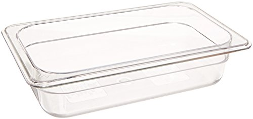 Crestware Polycarbonate Food Pan Fourth Size 2-1/2-Inch by Crestware