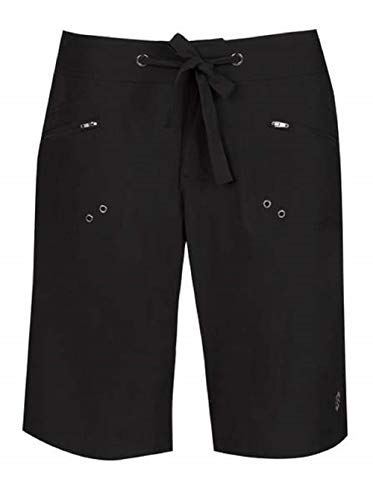 Free Country Women's Bermuda Board Shorts (Black, Large) (Best Countries For Blacks)