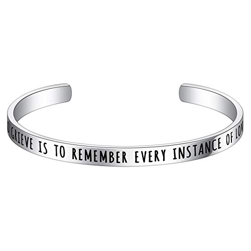M MOOHAM Memorial Gifts for Loss of Loved One - Loss Memorial Bracelets Remembrance Jewelry Gifts Jewelry Loss of Loved one Mom Dad Memorial Bracelets, to Grieve is to Remember Every Instance of Love