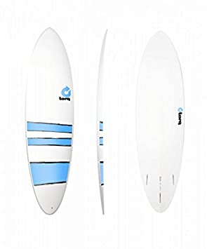 Tabla de Surf Torq epoxy 6.8 FUN Board Blue Bands + una vez de aplicación mawaii