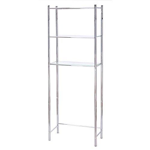 Asense Bathroom Storage Rack Shelf Spacesaver Over Toliet Organizer, (Chrome-1) ()