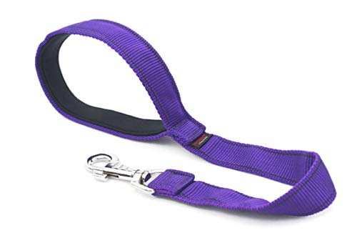 DogDirect London Short Handle Dog Lead Strong Techline 50cm/19in, Neoprene Padding, Hand Made Leash for Medium, Large…