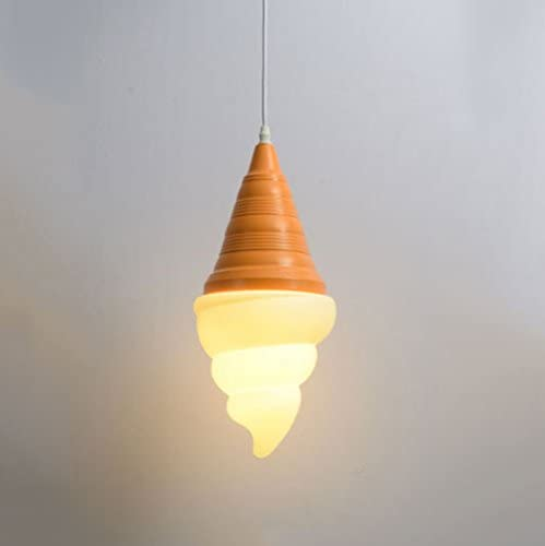 Cgjdzmd Personality Cone Eis Cream Ceiling Pendant Light Contemporary Simplicity Restaurant E27 geführt Hanging Lamp Chandelier für Children'S Room Kindergarten Dining Room Living Room Ceiling Lighting