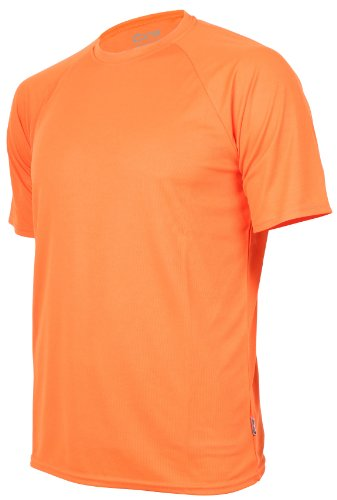 CONA BASIC - Unisex - Kurzarm Funktionsshirt in 24 Farbvarianten erhältlich L,Orange