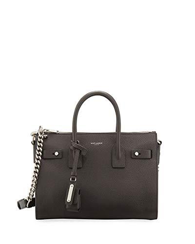Amazon.com  Saint Laurent Sac de Jour Baby Supple Bonded Carryall Tote Bag  made in Italy (Asphalt)  Shoes 6a17ef2c063a3
