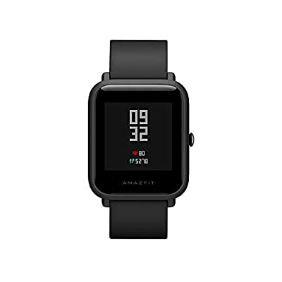 Amazfit Bip Smartwatch by Huami with All-Day Heart Rate and Activity Tracking, Sleep Monitoring, GPS, Ultra-Long Battery Life, Bluetooth, US Service and Warranty - A1608 Black