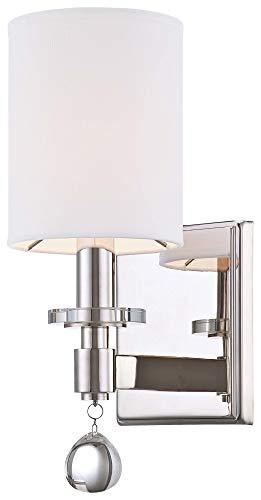 Metropolitan Lighting N2850-613 Chadbourne Polished Nickel Wall Sconce