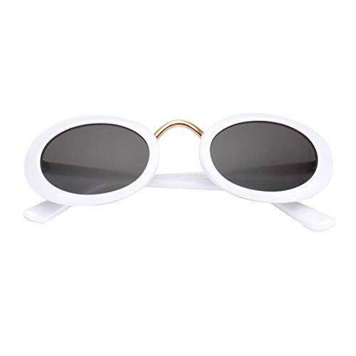 ROYAL GIRL Clout Goggles Oval Vintage Retro Mod Kurt Cobain Sunglasses Round Lens