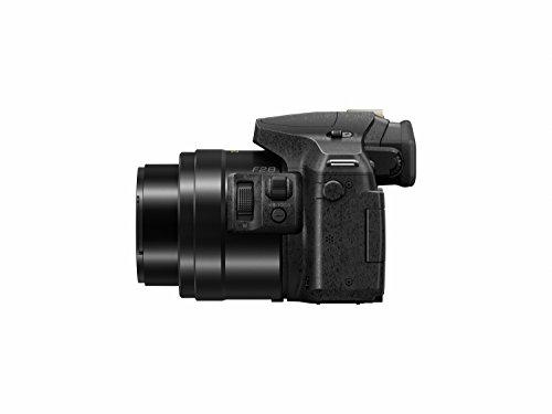 Panasonic LUMIX DMC-FZ300K 12.1 Megapixel, 1/2.3-inch Sensor, 4K Video, Splash & Dustproof Body, Leica DC Lens 24X F2.8 Zoom (Black)